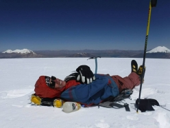 Los Picos 6500: Tomas Franchini on the summit of Sajama 6543m
