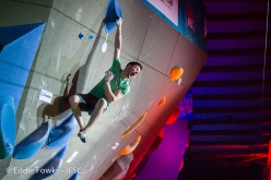 Jernej Kruder wins the first stage of the Bouldering World Cup 2018 at Meiringen in Switzerland