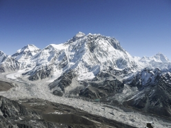 Mount Everest, first climbed without supplementary oxygen by Reinhold Messner and Peter Habeler on 8 May 1978