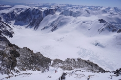 Breathtaking views across the Altai mountains in Siberia: Klaus Gruber and Michael Sinn climbing up the South Face of Aktru