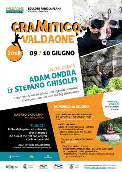 On the 9th and 10th June the Valle di Daone will host the fifth edition of GraMitico, the bouldering meeting in Italy open to all.