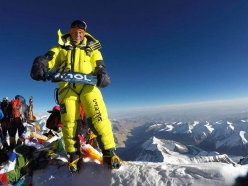 François Cazzanelli on the suit of Everest