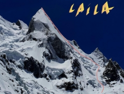 Laila Peak (6096m) Karakoram, Pakistan, skied for the first time from the summit on 11/05/2018 by France's Carole Chambaret, Tiphaine Duperier and Boris Langenstein