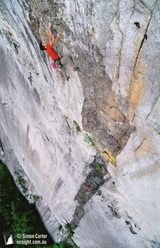 Matt Maddaloni pitch 6 (12a) of Black Dyke (13b), on the Stawamus Chief, Squamish, BC, Canada.