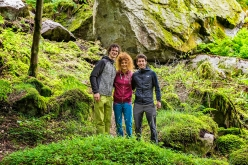 Adam Ondra, Sara Grippo and Stefano Ghisolfi in Valle di Daone at the GraMitico 2018 bouldering meeting