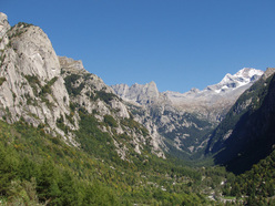 A panorama of the Val di Mello