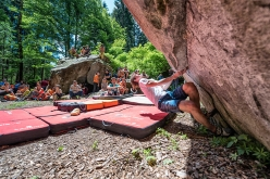 Adam Ondra sale la Magic Line 18 del GraMitico 2018 in Valle di Daone