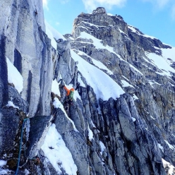 Brette Harrington & Caro North: the new route up Southern Duke in Alaska is dedicated to Marc-André Leclerc and Ryan Johnson.
