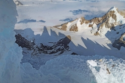 Cerro Torre Patagonia: view downwards