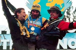 Mauro 'Bubu' Bole, Stephane Husson and Daniel Dulac, Valle di Daone 2001