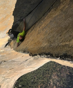 Magic Mushroom: Jacopo Larcher lavora i tiri chiavi su El Capitan, Yosemite, USA