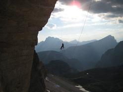 Hansjörg Auer e la prima ripetizione di Panaroma,  Cima Ovest di Lavaredo, Dolomiti