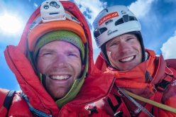 Kachqiant, Dasbar Valley, Pakistan: Bas Visscher and Danny Schoch on the summit of Kachqiant on 01/07/2018