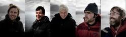 Nico Favresse, Olivier Favresse, captain reverend Bob Shepton, Sean Willanueva-odriscoll, Ben Ditto
