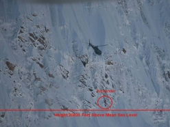 Latok I: the precise point where Alexander Gukov was rescued by helicopter