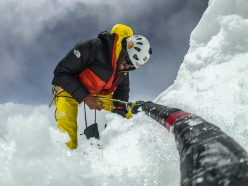 Hansjörg Auer making his solo ascent of Lupghar Sar