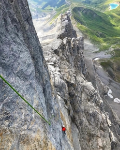 Eiger: Barbara Zangerl climbing Deep blue sea