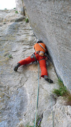 Rolando Larcher on the final, 8th pitch of Camaleontica