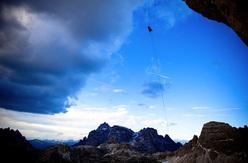 David Lama repeating Bellavista, Cima Ovest, Tre Cime di Lavaredo, Dolomites