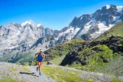 Trail running through the Lauterbrunnen Valley