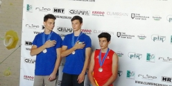 Coppa Europa Giovanile Boulder Youth A: 2. Davide Marco Colombo 1. Matteo Baschieri