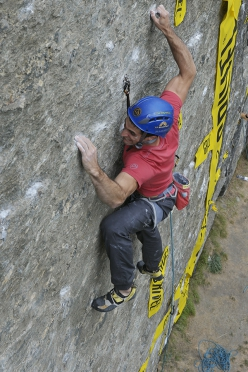 Marcello Bombardi  during the climbing competiton at Valgrisenche, Valle d'Aosta on 02/09/2018