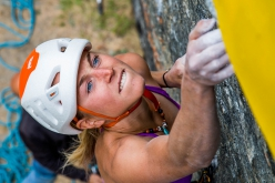 Federica Mingolla during the climbing competiton at Valgrisenche, Valle d'Aosta on 02/09/2018