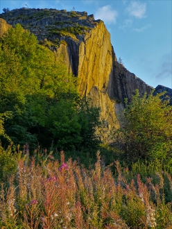 Dumbarton Rock in Scotland, home to some of the most difficult trad climbs in the world