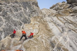 Thagas Valley, Karakorum: on the push towards the summit of Pathan peak