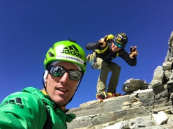 Andreas Steindl and François Cazzanelli during their ascent of the four Matterhorn ridges on 12/09/2018