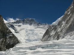 Lhotse seen from the Western Cwm, also known as the Valley of Silence