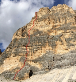 Cima Scotoni, Dolomites: Can you hear me? first ascended solo by Simon Gietl