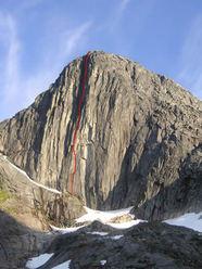 Tingeling (400m 7c+), Blamann, Kvaløya, Norway