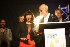 Piolets d'Or 2018: Marija and Andrej Stremfelj receiving the Lifetime Achievement Award