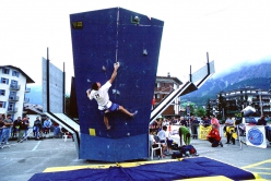 Luca Giupponi, Bouldering World Cup 1999 at Cortina