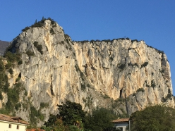 Monte Colodri at Arco, on the left Rupe Secca and Rupe del Castello
