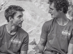 Stefano Ghisolfi and Adam Ondra at Massone during the Arco Champions Challenge