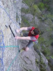 Luca Auguadri in azione a Linescio