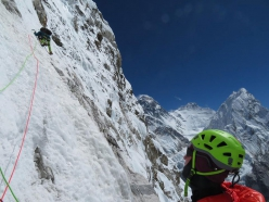 Pumori SE Face: Zsolt Torok & Teofil Vlad. Everest, Lhotse and Nuptse in the background