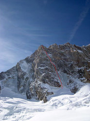 McIntyre-Colton on Grandes Jorasses soloed by Ezio Marlier in 2005.