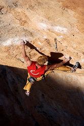 Andreas Bindhammer su La Rambla 9a+, Siurana, Spagna
