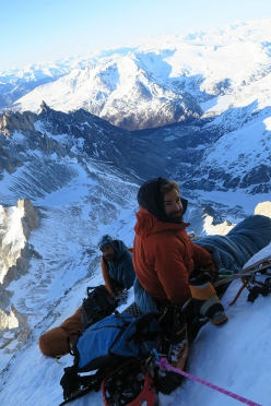 El Faro, Patagonia: François Poncet and Martin Elias at the bivy