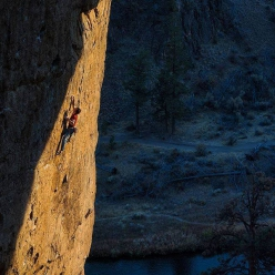 Adam Ondra onsighting White Wedding 8b+, Smith Rock, USA