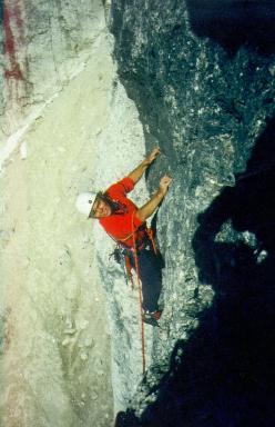 Renato Bernard in arrampicata in Dolomiti 8d200d1f66ed