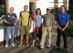 Karl Unterkircher Award 2010. La giuria internazionale: Carlo Caccia (IBorderline), Rolando Larcher, Ines Papert, Hans Kammerlander e Volker Leuchsner (Klettern)