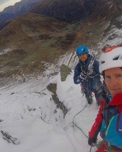 Wechnerwand north face first ascent by Philipp Brugger and Martin Sieberer, 11/2018