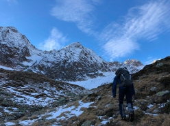 Wechnerwand north face, Stubai Alps, first ascended by Philipp Brugger and Martin Sieberer, 11/2018