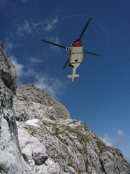 L'elicottero del Servizio Regionale di Elisoccorso Abruzzo 118
