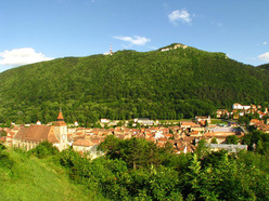 The old town centre of Brasov.