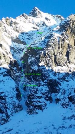 Pizzo Cavregasco Parete Ovest in Val Bodengo